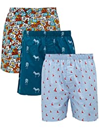 XYXX Men's Printed Cotton Boxer(Pack of 3)