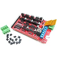 HiLetgo RAMPS 1.4 Panel de control de impresora 3D, tablero de control de reprap soporte Arduino Mega 2560