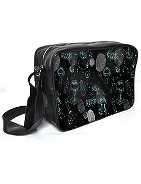 Snoogg Abstrakt Tapete Leder Unisex Messenger Bag für College Schule täglichen Gebrauch Tasche Material PU