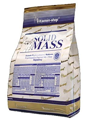 Vitamin-Shop - Solid Mass 1000 g / 13 portions - (Strawberry) - Carbohydrate-Protein Formula Supporting Muscle Mass and Strength Gain - Monster Mass Gainer by Body Creator