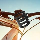 YonganUK Borraccia Bicicletta Gabbie, Universale Bici Coppa Rack Manubrio Bottiglia Acqua Supporto Tazza Leggero, Supporto Ciclismo Bottiglie Supporto - Nero