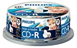 Philips CD-R Rohlinge bedruckbar (700 MB Data/ 80 Minuten, 52x High Speed Aufnahme, 25er Spindel)