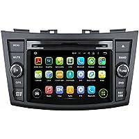 7 pollici Android 5.1.1 Lollipop OS Lettore DVD dell'automobile per Suzuki Swift 2011 2012 2013 2014 2015,DAB+ radio Quad Core 1.6G Cortex A9 CPU 16G Flash 1G RAM DDR3 1024x600 GPS Radio Ingresso Aux OBD2 - Costruito Nel Registratore Cd