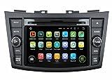 7 pollici Android 5.1.1 Lollipop OS Lettore DVD dell'automobile per Suzuki Swift 2011 2012 2013 2014 2015,DAB+ radio Quad Core 1.6G Cortex A9 CPU 16G Flash 1G RAM DDR3 1024x600 GPS Radio Ingresso Aux OBD2
