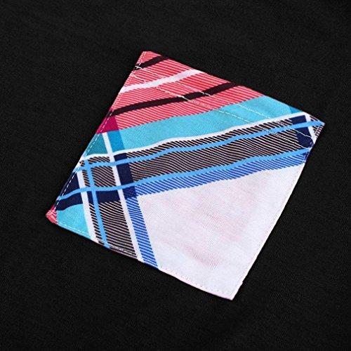 OverDose T shirt Donna Manica Lunga Stampa,16 opzioni,IT 38-48 nero_A
