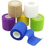 YuMai Haftbandage Selbsthaftende Bandage Erste Hilfe Klebeband Wrap 5 cm × 4,5 m Mehrfarben FDA genehmigt – 6 Stück