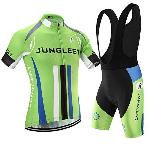[Tipo:Set[Bretella nero] taglie:XL] Maglia manica Estivo rapido Abbigliamento Cycling della Professionali corti Tuta cuscino prestazioni bici traspirante Pants corta comodo maglietta
