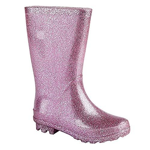 Carcassi Girls/Teens Glitter Wellies/Rain Boots