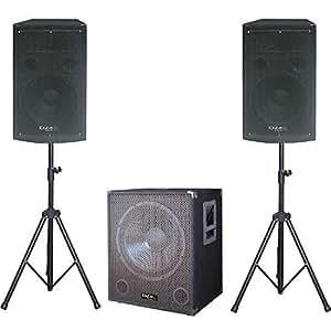 Ibiza Cube1515 SUB ACTIF 38cm - 800W, HP 2x 700 W, 2 SUPPORT d'enceintes