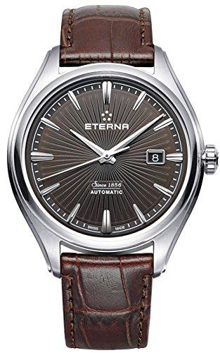 Eterna Avant Garde Herren Uhr analog Automatik mit Leder Armband 2945.41.50.1338
