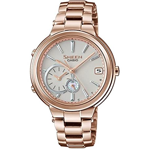 Casio Sheen Damenuhr in Rose mit SWAROVSKI® CRYSTALS & Solarbetrieb