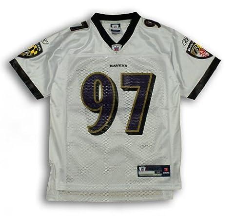 Reebok Baltimore Ravens NFL Kelly Gregg # 97Youth réplique Jersey - Blanc - Large