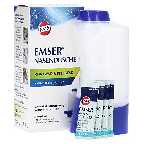 EMSER EMSER Nasendusche mit 4 Btl.Nasenspülsalz - 1 St Kombipackung 12615385