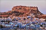 Posterlounge Alu Dibond 30 x 20 cm: India, Rajasthan, Jodhpur, The Blue City, Mehrangarh Fort. von Age fotostock/Mauritius Images