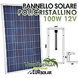 Panel solar de 100 W módulo fotovoltaico policristalino de 12 V para caravana, barco, cabaña
