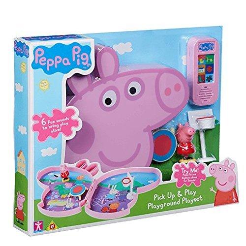 Peppa Pig Pick & Play Spielplatz Spielset mit Sound