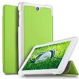 IVSO Acer ICONIA ONE 7 B1-7A0 Hülle, Ultra Schlank Ständer Slim Leder zubehör Schutzhülle perfekt geeignet für Acer ICONIA ONE 7 B1-7A0-K17V Tablet PC, Grün