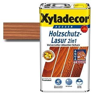 Xyladecor® Holzschutz-Lasur 2 in 1 Mahagoni 2,5 l   mit Aqua Tech - Extra-Schutz gegen Wasser   imprägnieren & schützen
