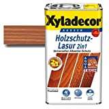 Xyladecor® Holzschutz-Lasur 2 in 1 Mahagoni 5 l - betont die Holzmaserung & ist atmungsaktiv (offenporig)