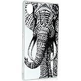 Xperia M4 Aqua Funda - Lanveni Chic Elegante Carcasa rígida ultrafina para Sony Xperia M4 Aqua Transparente Hard Case - Patrón Elefante Tribal Diseño 1