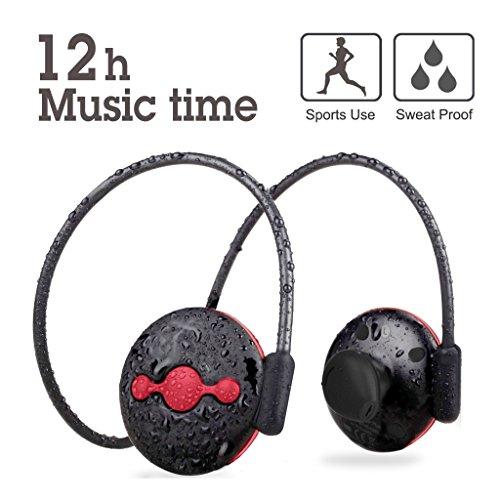 Avantree Bluetooth 4.1 Sport Kopfhörer mit aptX, Schweißabweisende, KEIN hängendes Kabel, Wireless Headset Headphones mit Mikrofon zum Radfahren Fitness Sport - Jogger Plus
