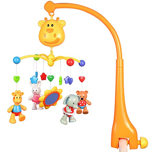 GoAppuGo Musical Cot Mobile with Battery Operated Rotation