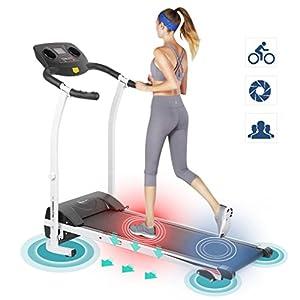 Kitechildhrrd Laufband Klappbarer mit LCD Display Elektrisches Fitnessgerät Heimtrainer Belastbarkeit bis 120kg