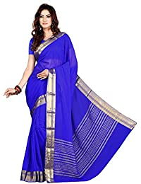 Roopkala Silks & Sarees Chiffon Saree (Ds-264_Royal Blue)