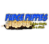 Fudge Puppies Concession Decal belgiam Waffle Food Sign