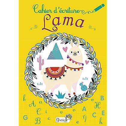 Cahier d'écriture Lama