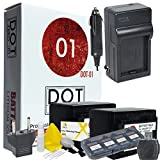 2x DOT-01 Brand 3150 mAh Replacement Canon BP-727 Batteries and Charger for Canon HF R600 Camcorder and Canon BP727 Accessory Bundle with BONUS Lens Blower Brush Cleaning Kit and Hard Memory Card Case