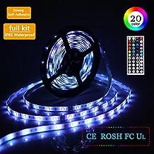 Strisce LED Luce Impermeabile 5m 5050SMD RGB 150LEDs Striscia LED Kit completo