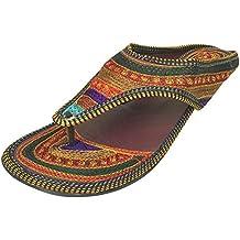 Step n Style - Sandalias de vestir para mujer multicolor azul/multicolor, color multicolor, talla 36 2/3