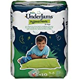 Pampers UnderJams Boys 10 Pyjama Pants - Size 7 (Small/Medium), Pack of 4