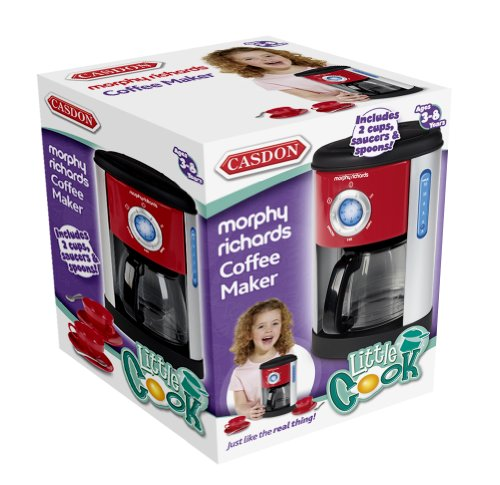 Casdon Morphy Richards Coffee Maker And Cups Red At Shop