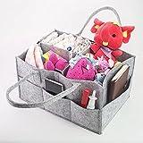 Pingxia Sac a Langer Bébé Multifonctionnel Sac Rangement Couches Bebe avec Compartiments Velcro Amovibles Portable Baby Diaper Bag Gris