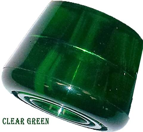 Quad Skate Stopper in various colours - Sold as a pair (Clear Green)