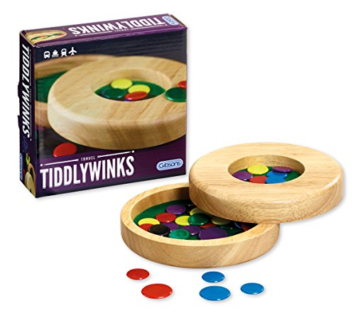 Gibsons Games Mini Tiddlywinks with wooden storage box