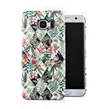 Tropical Oiseau Flamingo & Flowers Motif Fleur Coque Housse Etui De Protection Plastique Dur Ligne Profil Slim Pour Samsung Galaxy S7 EDGE Hard Plastic Case Cover