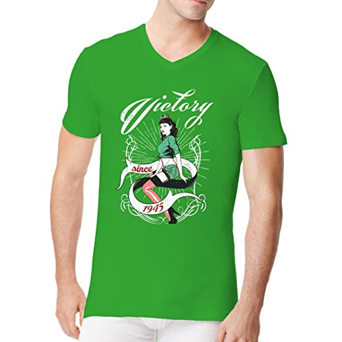 Im-Shirt - Victory Pin-Up cooles Fun Men V-Neck - verschiedene Farben Kelly Green