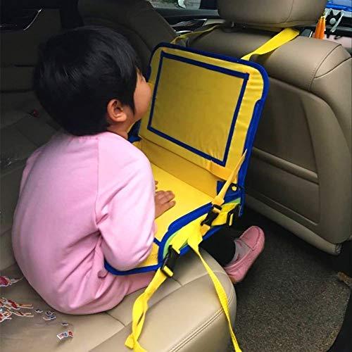 Todaytop Kinder Auto Knietablett Multifunktional Reisetisch Einstellbar Klapptisch für das Auto Zubehör für Auto-Babysitze (1 Pcs)