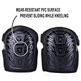 SENMEI Professional Knee Pads for Work, Gel Foam Padding Sturdy and Easy-fixed Kneeling Pad for Gardening, DIY Homeworking, Snugly Fitted Wraps with Clips