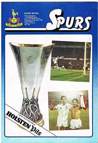 Tottenham Hotspur v Bayern Munich - Official Matchday Football Programme - U.E.F.A. Cup - 3rd Rnd 2nd Leg 1983/84 - 7th December 1983 -