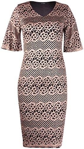 Purple Hanger Damen Kleid Gr. 52/54, gold -