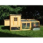 8FT CHICKEN COOP DUCK HEN POULTRY ARK HOUSE HUTCH Run COUP,+ Nest, ** No Deliveries To Postcodes BT GY HS IM IV JE KW PA PH ZE** No Deliveries To Postcodes BT GY HS IM IV JE KW PA PH ZEPULL OUT Tray ,