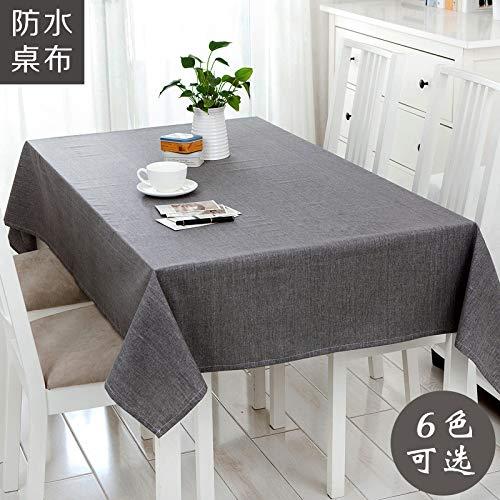 FPMFQIG wasserdichte Tischdecke Leinen Reine Farbe Konferenztischdecke Tischdecke Couchtisch
