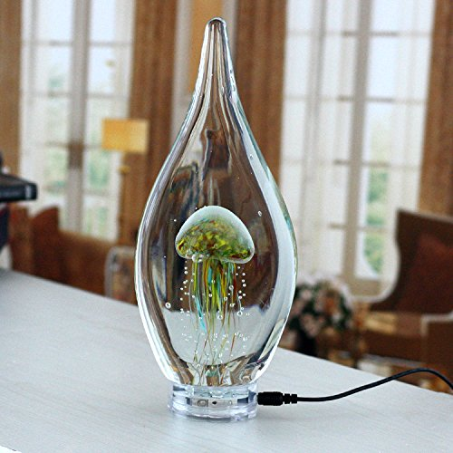 CNMKLM Kreative Leuchtende Qualle Lampe moderne, minimalistische Möbel Wohnzimmer kunst glas Nachtlicht,Blume