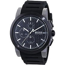 Hugo Boss 1513089 - Reloj con correa de caucho para hombre, color negro / gris