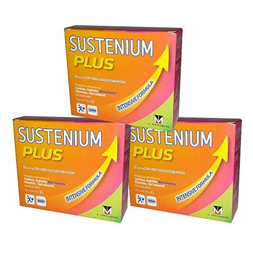 3X SUSTENIUM PLUS INTENSIVE FORMULA - Integratore Alimentare Energetico - 36 BUSTINE TOTALI