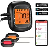 Harbor Digital Bluetooth Drahtlose Grillthermometer Barbeque Thermometer wireless Fleisch Thermometer, mit Alarm, 2.7 inches LCD display, App für iOS & Android Mobile (2 Messfühler in Pack